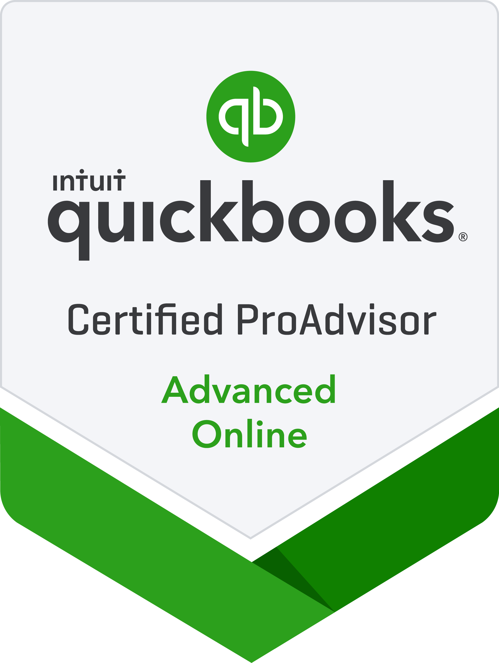 QuickBooks Advanced Online Certified ProAdvisor badge